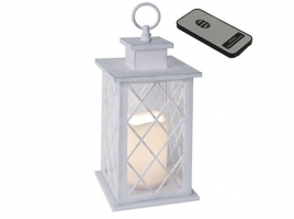 Светильник декоративный LED, с таймером, 30 см, пластик белый (с пультом ДУ)