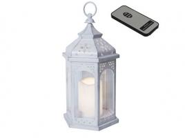 Светильник декоративный LED, с таймером, 33 см, пластик белый (с пультом ДУ)