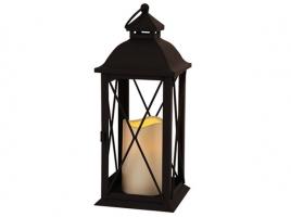 Светильник декоративный LED, с таймером, 32 см, металл, черный (без стекла)