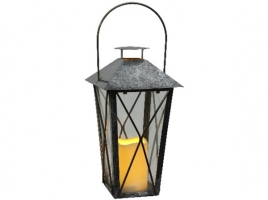 Светильник декоративный LED, с таймером, 33 см, металл, черный