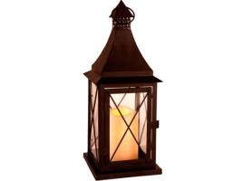 Светильник декоративный LED, с таймером, 36 см, металл, коричневый