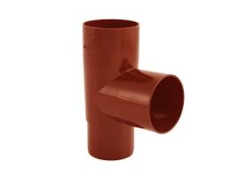Тройник водосточной системы 87°, цвет: медь