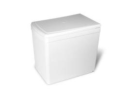 Ведро для мусора  выдвижное (16л), пластик белый (201.B3)