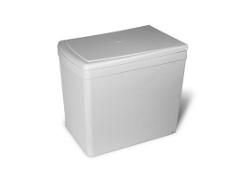 Ведро для мусора  выдвижное (16л), пластик светло-серый (201.GC)