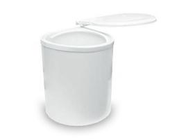 Ведро для мусора выдвижное (11л) пластик белый (97B)