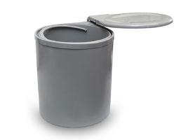 Ведро для мусора выдвижное (11л) пластик серый (97G)