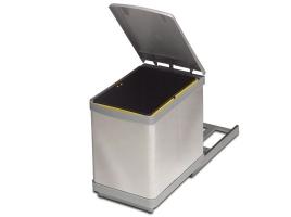 Ведро для мусора выдвижное (16 л) сталь нержавеющая