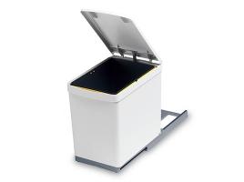 Ведро для мусора выдвижное (16 л) белое