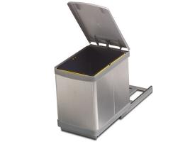 Ведро для мусора выдвижное (16 л) алюминий