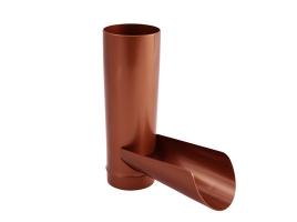 Клапан отвода воды в водосточной системе, цвет: медь