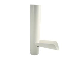 Клапан отвода воды в водосточной системе, цвет: белый