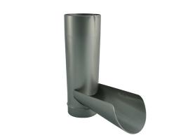 Клапан отвода воды в водосточной системе, цвет: серебристый
