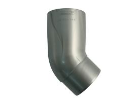 Колено трубы водосточной системы, 45°, цвет: серебристый