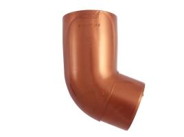 Колено трубы водосточной системы, 67°, цвет: медь