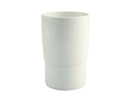Муфта трубная для водосточной системы, цвет: белый