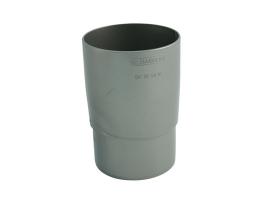 Муфта трубная для водосточной системы, цвет: серебристый