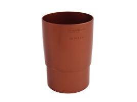Муфта трубная для водосточной системы, цвет: медь
