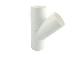 Тройник водосточной системы 45°, цвет: белый