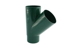 Тройник водосточной системы 45°, цвет: зеленый