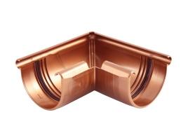 Внешний угловой элемент водосточной системы, цвет: медь