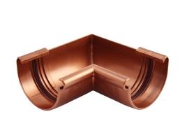Внутренний угловой элемент водосточной системы, цвет: медь