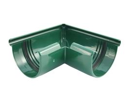 Внешний угловой элемент водосточной системы, цвет: зеленый