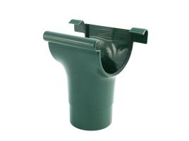 Воронка для желоба водосточной системы, цвет: зеленый