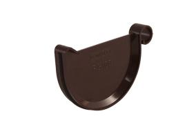 Заглушка для желоба водосточной системы цвет: коричневый