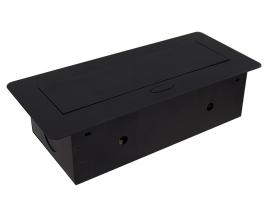 Встраиваемая выдвижная горизонтальная розетка в столешницу - GLS 2 euro 2 USB