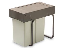 Ведро для мусора выдвижное (21л) - светло-серый