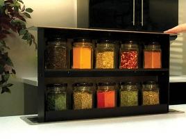 Встраиваемый выдвижной механизм для хранения специй Spice box (10 банок)