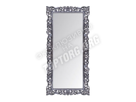 "Зеркало в раме ""Априка"" цвет: серебро, черная патина (940х2000 мм)"
