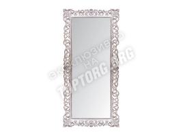 """Зеркало в раме """"Априка"""" цвет: белый, патина серебро (940х2000 мм)"""