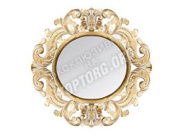 "Зеркало в раме ""Авола"" цвет: золото, белая патина (700x700 мм)"
