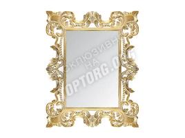 """Зеркало в раме """"Лигурия"""" цвет: золото, белая патина (900x1200 мм)"""
