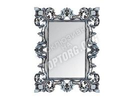 "Зеркало в раме ""Лигурия"" цвет: серебро, черная патина (900x1200 мм)"
