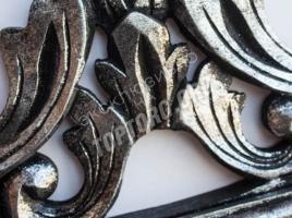 зеркало в раме 900х1200 цвет серебро, черная патина, дерево