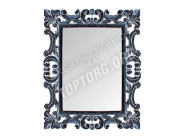 "Зеркало в раме ""Лучера"" цвет: черный, белая патина (500x600 мм)"