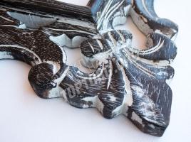 Зеркало в раме Лучера цвет: черный, белая патина 500x600 мм