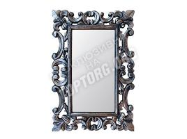 "Зеркало в раме ""Лучера"" цвет: серебро, черная патина (400x600 мм)"