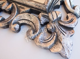 зеркало в раме 400х600 мм, цвет серебро с темной патиной