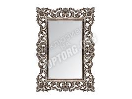 """Зеркало в раме """"Верона"""" цвет: черный, серая патина (700x1000 мм)"""