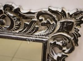 Зеркало в раме цвет черный, серая патина 700x1000