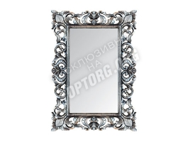 "Зеркало в раме ""Верона"" цвет: серебро, черная патина (700x1000 мм)"