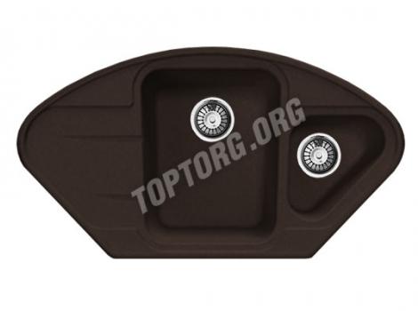 мойка из искусственного камня, цвет шоколад
