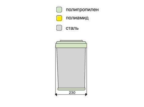 ведро для мусора выдвижное 201.MT