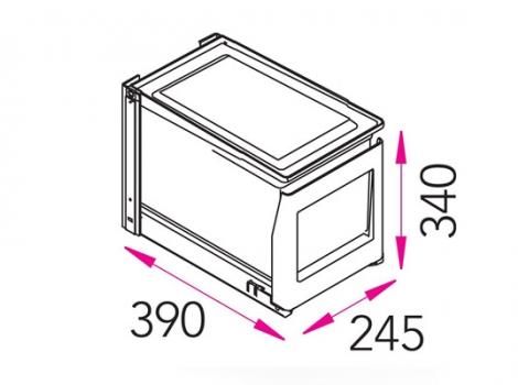 Ведро для мусора выдвижное EKO-1K