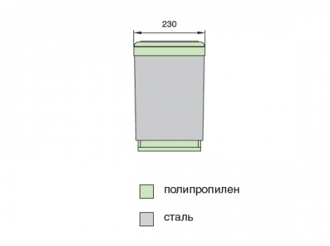Ведро для мусора выдвижное (16 л) серый