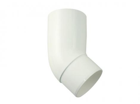 колено 45 градусов для водосточной требы диаметром 75. 105 мм