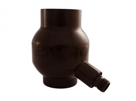 Отборник дождевой воды с фильтром и переливным клапаном коричневый